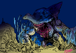 shark monster by HAYMAKERS