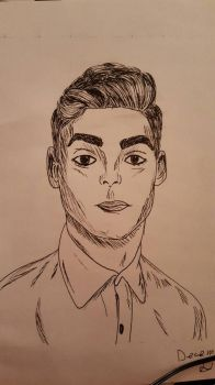 Inked Male Portrait by miacooljay