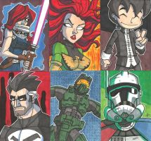 Sketch Book Cards - 02 by JoeHoganArt
