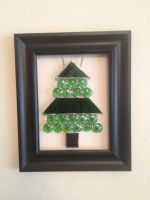 Framed Stained Glass Christmas Tree by PandoraX