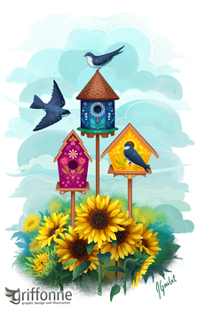 Birdhouses by joanniegoulet