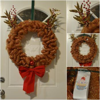 Rudolph Wreath by PlushPrincess