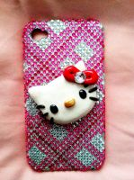 Hello Kitty cellphone decal by Keykee88