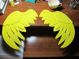 More Fluttershy cosplay wings WIP by SatsubatsuNiwa