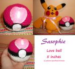 Love ball amigurumi by Sasophie