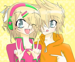 Len and Rin by Kream-Cheese