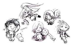 Guilty Gear Chibis 3 by EllieVyle