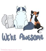 Cats are awesome by Looji