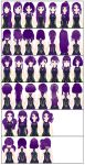 18 New Hair Models for ComiPo (CSU) by LadiSilverfox