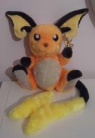 Double size poseable Raichu plushie by angelberries