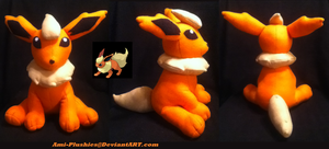Flareon Plushie :On Hold: by Ami-Plushies