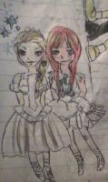 Elsa as Giselle and Anna as Princess Tutu by skatergirl747