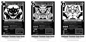 Pokemopolis Giants Monochrome Cards by Karite-Kita-Neko