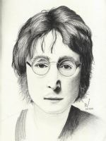 John Lennon (Pencil) by TheR-tist