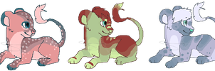 Pixel lion cubs #1 OPEN by SwarThylacine-Adopts
