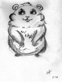 Warm up sketch (hamster) by UndiscoveredMuse