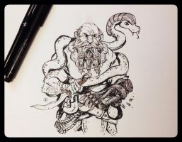 DAILY DOODLE - inktober 03 by darrenrawlings