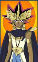 Pharaoh Atem Colored by usagisailormoon20