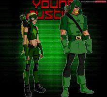 YoungJustice: Green Arrow and Artemis by YorkeMaster