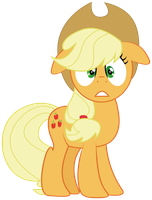 Applejack Scared by lookitslaurie