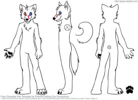 Shadow the Arctic Werewolf Reference by creepsome