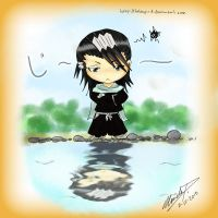 Chibi-Byakuya's Missing Koi by talespirit