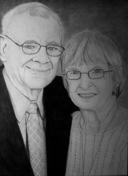 Portrait of My Grandparents by TheRoamingArtist