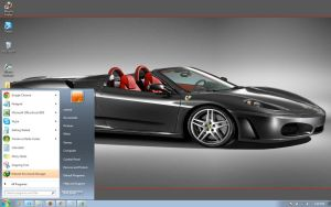 Ferrari-F430-Spyder windows 7 theme by windowsthemes