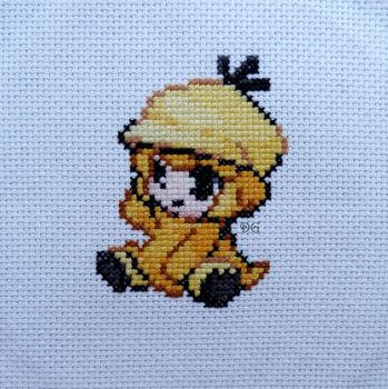 Psyduck embroidery by didi-gemini