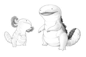 Realistic quagsire and wooper by MrSillyhead