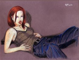 Shirley Manson 2002 in color by ArtL2000