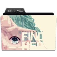 Hatsune Miku Folder Icon by NekoRoklyne