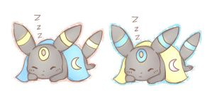 Umbreon stickers by Mico-tan
