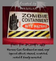Caution Sign - Zombie by crudelia