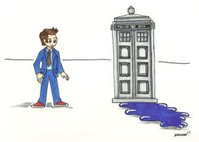 239: Desaturated TARDIS by CrazyFoxMoon