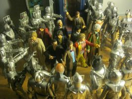 EVERY CYBERMAN EVER vs The Doctor by spectrum-sparkle
