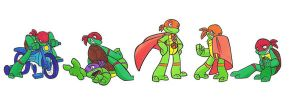 kiddy turtles by enolianslave