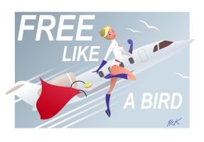 Powergirl Free Like A Bird by artist2point5