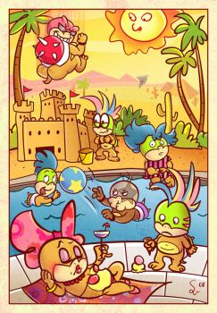 Koopa Pool Party by ChemicalAlia