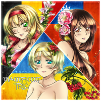 APH: The Magnificent fem!trio by Kay-I
