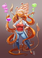 Mollusk Scientist Commission by KarlaDiazC
