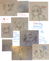 Sketchdump of Cats and Dogs by Garfield141992