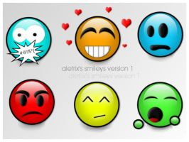 Aletrix's Smileys Version 1 by kaotic-sammii