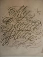 lettering sketch by xfirestormx