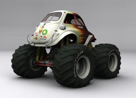 BMW Isetta 300 Monster Truck by kokillo
