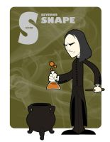 S is for Severus Snape by jksketch