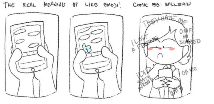 The real meaning of the like emoji! by AwkwardCupcake13