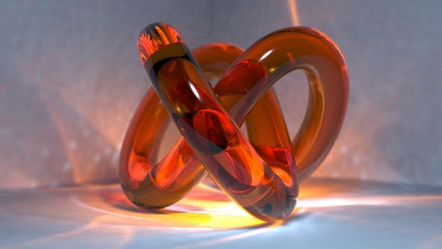 Glass Torus with Caustics by FU51ON