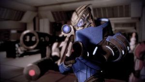 Garrus and his gun - Mass Effect 2 by loraine95