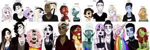Ask my OC's (Updated) by egoetrexmeus